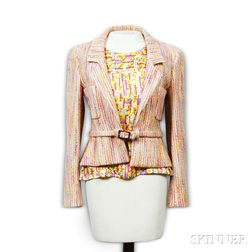 "Chanel Jacket and Matching Silk ""Coco"" Blouse"