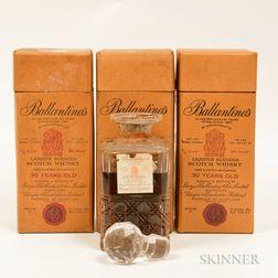 Ballantines 30 Years Old, 3 4/5 quart bottles (oc)