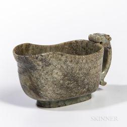 Nephrite Jade Ritual Wine Cup
