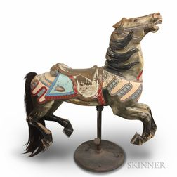 Polychrome Painted and Carved Carousel Horse