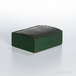 Shaker Green-painted Slide-lid Box