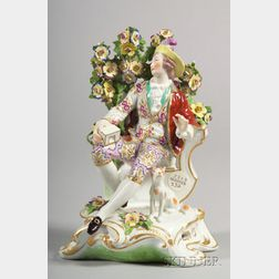 German Porcelain Bocage Figure