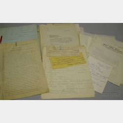 Partial Archive of Documents Related to The Case of Abby W. Howes v. Wallace Nutting Regarding The Prince-Howes Cupboard Sold to J.P. M