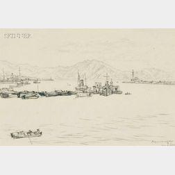 Muirhead Bone (British, 1876-1953)      Naples