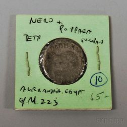 Ancient Roman Empire Silver Billon Tetradrachm Coin
