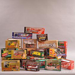 Twenty-nine Coca-Cola Collectible Toy Trucks