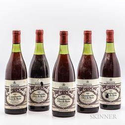 Drouhin-Laroze Chambertin Clos De Beze 1971, 5 bottles