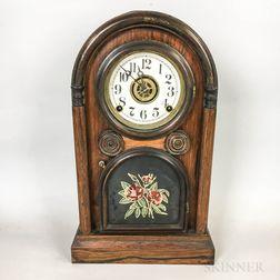 Rosewood Shelf Clock and a Gingerbread Clock