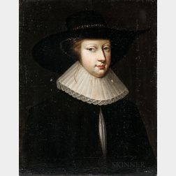 Dutch School, 17th Century      Woman in Broad-brimmed Hat and Ruff