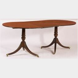 Georgian-style Two-Pedestal Dining Table