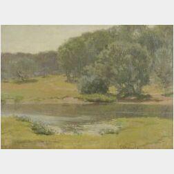 Charles Francis Browne (American, 1859-1920)  The Charles River at Weston Bridge, Massachusetts