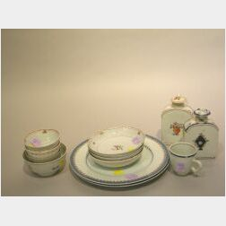 Thirteen Chinese Export Famille Rose and Armorial Porcelain Items.