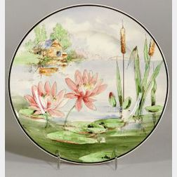 "Set of Twelve American Ceramic ""Nature Study"" Dinner Plates"