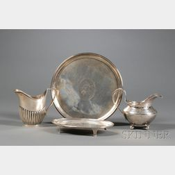 Four English Silver Tablewares