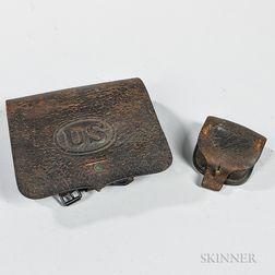 U.S. Model 1864 Cartridge Box and Cap Pouch