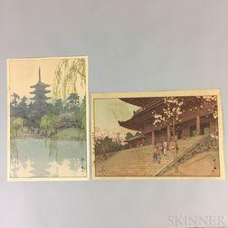 Two Hiroshi Yoshida (1876-1959) Woodblock Prints