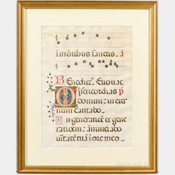 Illuminated Manuscript Leaf.