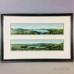 Two Nantucket Chromolithographs of Moorlands, Polpis Harbor, and Foot Pond