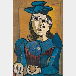 After Pablo Picasso (Spanish, 1881-1973)      Buste de femme au chapeau bleu (Dora Maar)