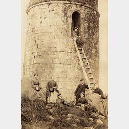 Francis Edmond Currey (British, 1814-1896)      Round Tower Ardmore (Ireland)