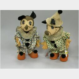 Pair of Mickey and Minnie Mouse Toys By Knickerbocker