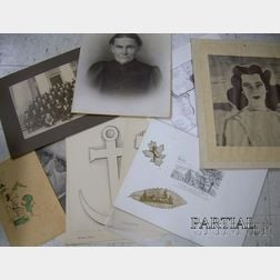 Group of Works on Paper and Ephemera