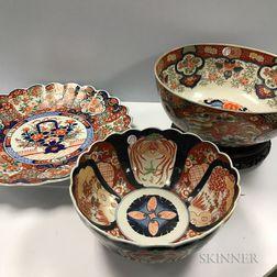 Two Imari Punch Bowls