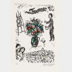 Marc Chagall (Russian/French, 1887-1985)      Bouquet sur la ville