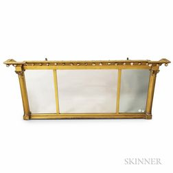 Federal Carved and Gilt-gesso Overmantel Mirror