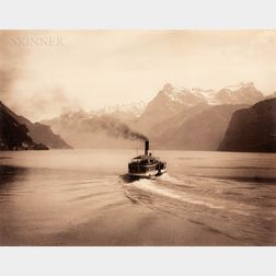 Giorgio Sommer (Italian, 1834-1914)      Alpine Lake
