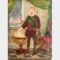 Dutch School, 17th Century Style      Three Portraits of Men: Sir Walter Raleigh, Maurice, Elector of Saxony