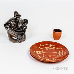 Three Contemporary Ceramic Pieces