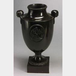 Wedgwood and Bentley Black Basalt Vase