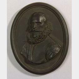 Wedgwood Black Basalt Portrait Medallion of Rombout Hogerbeets