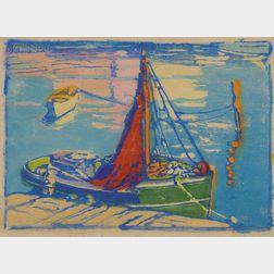 Margaret Jordan Patterson (American, 1867-1950)      The Guinea Boat, Gloucester