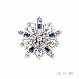 Sapphire and Diamond Snowflake Brooch, Tiffany & Co.
