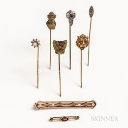 Group of Mostly Gold Jewelry