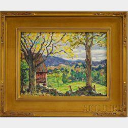 Edgar Otis Miner (American, 1915-2003)      October Landscape in Vermont