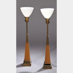 Pair of Tommy Parzinger Table Lamps for Stiffel