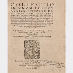 Bookseller's Catalog, 1592.