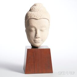 Sandstone Head of a Deity