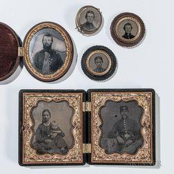 Group of Civil War-era Tintypes