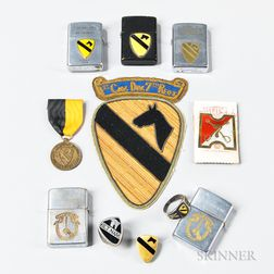 Air Cavalry Insignia and Lighters