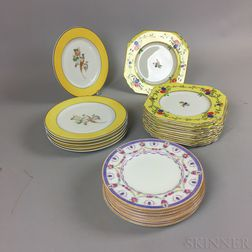 Group of Wedgwood, Cauldon, and Syracuse Porcelain Plates