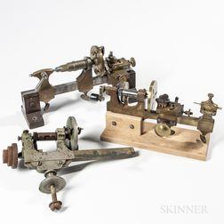 Three Swiss Watchmaker's Mandrels