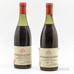 Felix Clerget Pommard Rugiens 1969, 2 bottles