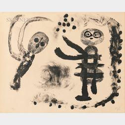 Joan Miró (Spanish, 1893-1983)      Petite fille au bois