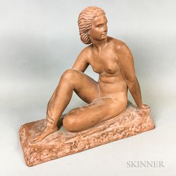Demetre Chiparus Art Deco Terra-cotta Figure of a Nude Woman