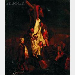 After Rembrandt Harmensz van Rijn (Dutch, 1606 - 1669)    Descent for the Cross