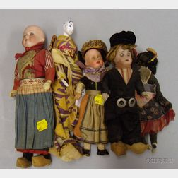 Five Assorted Dolls